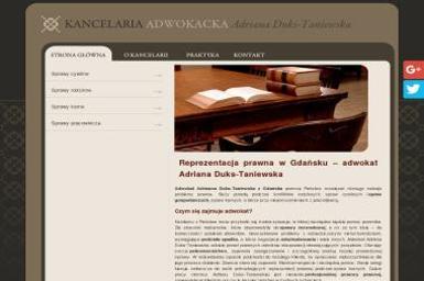 Kancelaria Adwokacka Adriana Duks-Taniewska - Adwokat Gdańsk