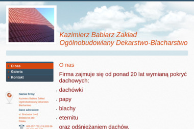 KRIS-BUD Zakład Ogólnobudowlany Tomasz Babiarz - Hurtownia Pokryć Dachowych Bielawa