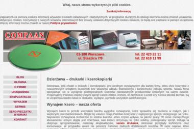 Compaan - Serwis sprzętu biurowego Warszawa
