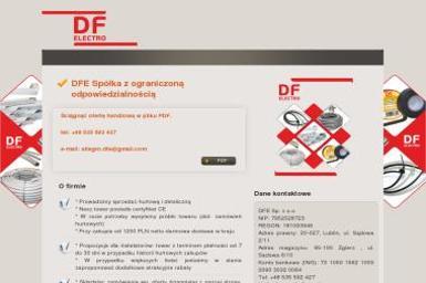DFE Sp. z o.o. - Kontakty Elektryczne Lublin