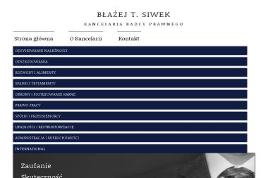 Kancelaria Radcy Prawnego Błażej T. Siwek - Obsługa prawna firm Poznań