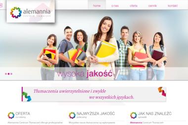Alemannia Centrum Tłumaczeń - Tłumaczenie Angielsko Polskie Dębica