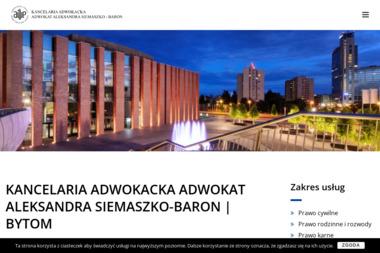 Kancelaria Adwokacka Adwokat Aleksandra Siemaszko-Baron - Adwokat Bytom