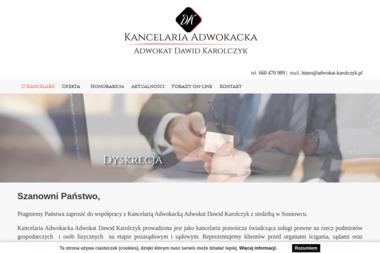 Kancelaria Adwokacka Adwokat Dawid Karolczyk - Radca prawny Sosnowiec