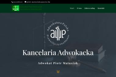 Kancelaria Adwokacka Adwokat Piotr Matusiak - Adwokaci Rozwodowi Piotrków Trybunalski