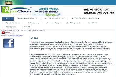 AjaxClean Water - Woda z Dystrybutora Jedlnia-Letnisko