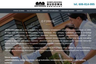 """Zakład Inżynieryjno-Budowlany """"Budo-Dekoracja"""" - Kierownicy Budowy Opatów"""