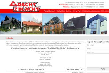 """Przedsiębiorstwo Handlowo-Usługowe """"""""DACHY Z BLACHY"""""""" Spółka Jawna - Pokrycia dachowe Oława"""
