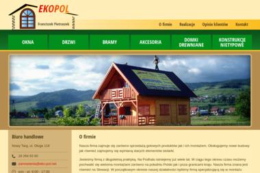 EKOPOL Franciszek Pietraszek - Mycie dachów Nowy Targ