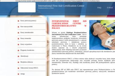INTERNATIONAL FIRST AID CERTIFICATION CENTRE PRZEDSTAWICIELSTWO W POLSCE - Kurs pierwszej pomocy Racibórz