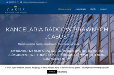 """Kancelaria Radców Prawnych """"CASUS"""" - Radca prawny Głogów"""