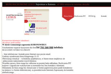 LEXUS Biuro Rachunkowe - Biznes Plan Sklepu Internetowego Radom