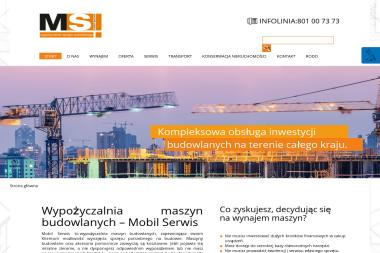 Mobil Serwis - Długoterminowy wynajem maszyn budowlanych Pruszcz Gdański