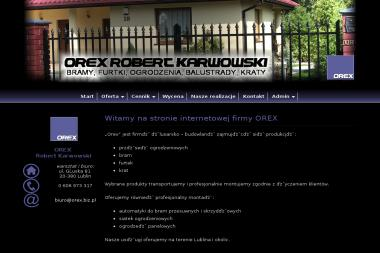 OREX  Robert Karwowski - Brama Wjazdowa na Pilota Lublin