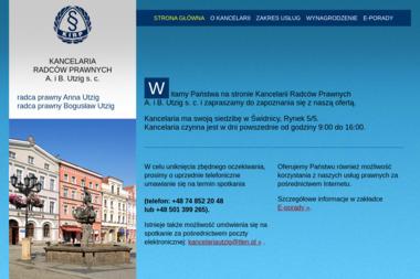 Kancelaria  Radców Prawnych A. i B. Utzig s.c - Pomoc Prawna Świdnica