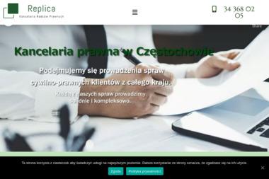 Replica Kancelaria Radców Prawnych - Radca prawny Częstochowa