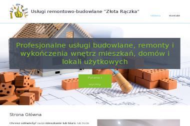 """Usługi Remontowo-Budowlane """"Złota Rączka"""" - Gładzie Białośliwie"""