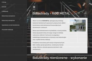 ROBMETAL - Balustrady szklane Rogoźnik