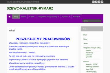 SZEWC KALETNIK RYMARZ - Rymarstwo Wrocław
