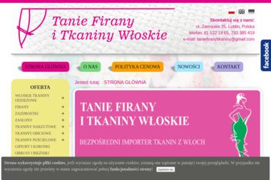 Tanie Firany i tkaniny Włoskie - Sprzedaż Tkanin Lublin