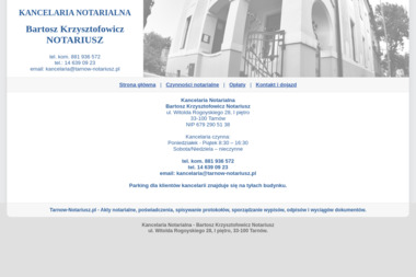 Kancelaria Notarialna Bartosz Krzysztofowicz Notariusz - Notariusz Tarnów