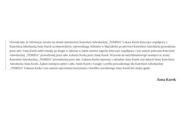 ADWOKAT ANNA KUREK - Sprawy Rozwodowe Grudziądz