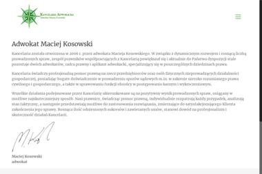 Kancelaria Adwokacka - Adwokat Maciej Kosowski - Adwokat Legnica