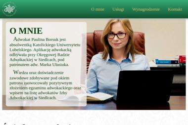 Kancelaria Adwokacka Paulina Borsuk - Adwokat Siedlce