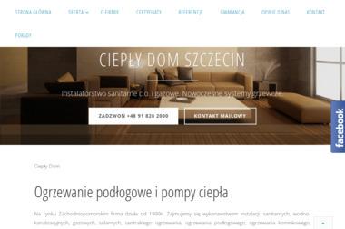 Ciepły Dom - Tomasz Sulej - Instalacje gazowe Szczecin