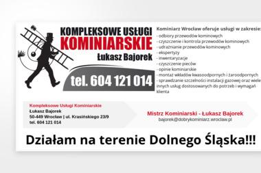 Mistrz Kominiarski - Łukasz Bajorek - Czyszczenie Kominów Wrocław