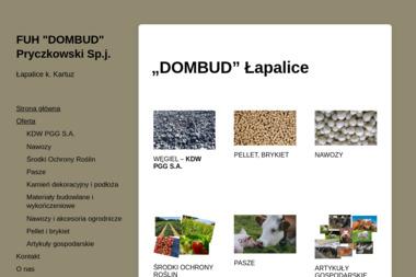 """Firma Usługowo-Handlowa """"DOMBUD"""" Pryczkowski Sp. j. - Ekogroszek Kartuzy"""