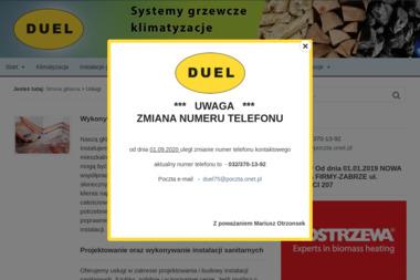 """Firma Usługowo-Handlowa """"DUEL"""" - Instalacje grzewcze Zabrze"""