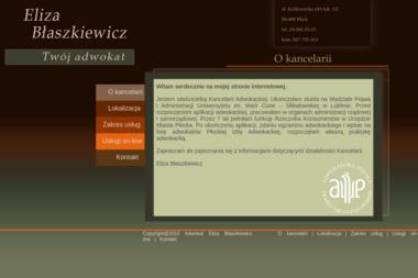 Kancelaria Adwokacka Eliza Błaszkiewicz - Adwokat Płock