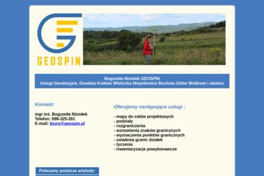 Bogumiła Niziołek GEOSPIN - Firma Geodezyjna Niepołomice