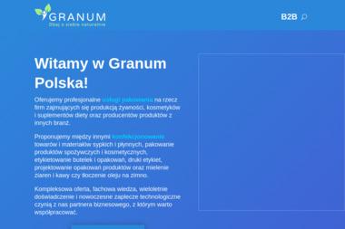 Granum Sp. z o.o. - Pakowanie i konfekcjonowanie Wola batorska