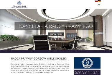 Kancelaria Radcy Prawnego Marta Dubiec - Radca prawny Gorzów Wielkopolski