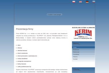 KERIM Sp. z o.o. - Okna aluminiowe Łańcut
