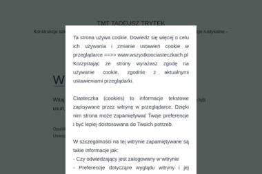 Zakład Stolarski TMT Tadeusz Trytek - Domy Drewniane Wierzchosławice