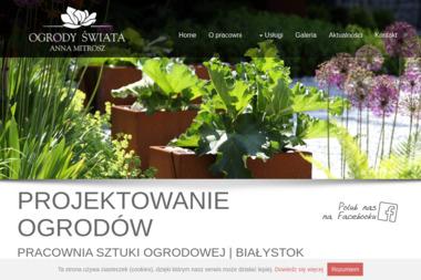 OGRODY ŚWIATA Anna Mitrosz - Projektowanie ogrodów Białystok