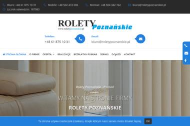 Rolety Poznańskie Maria Barska - Żaluzje, moskitiery Poznań