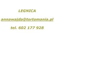 Tortomania Pracownia Tortów Artystycznych - Cukiernia Legnica