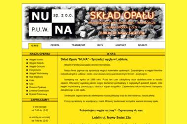 """""""NUNA"""" SPÓŁKA Z O.O. - Drewno kominkowe Lublin"""