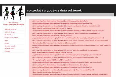 Sprzedaż i wypożyczalnia sukienek Chic Dressing - Wypożyczalnia Sukni Wieczorowych Kraków