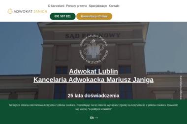 Kancelaria Adwokacka Adwokat Mariusz Janiga - Radca prawny Lublin