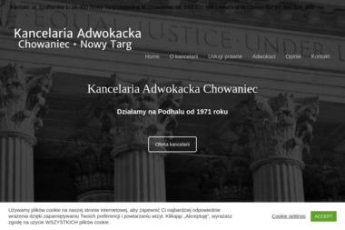 Kancelaria Adwokacka Władysław Chowaniec Mateusz Chowaniec sp. cywilna - Adwokat Prawa Karnego Nowy Targ