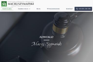 Adwokat Maciej Szymański - Usługi Prawne Kołobrzeg