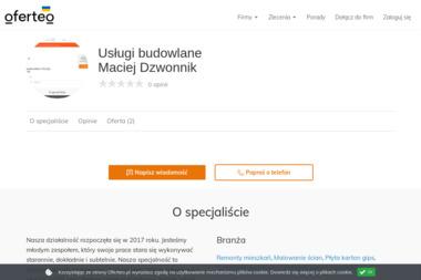 Usługi budowlane Maciej Dzwonnik - Płyta karton gips Tetyń