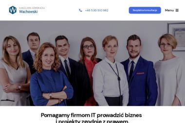 Kancelaria Adwokacka Wachowski - Obsługa prawna firm Warszawa