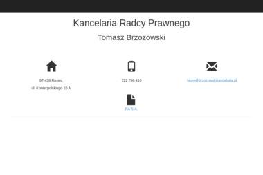 Kancelaria Radcy Prawnego Tomasz Brzozowski - Kancelaria prawna Aleksandrów