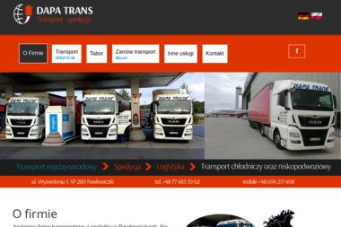 FIRMA HANDLOWO USŁUGOWA MAREK DAPA - Transport międzynarodowy Pawłowiczki